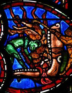 Last Judgement window, Cathedral Saint-Etienne de Bourges.