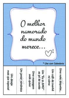 Presenteie Carinho no Dia dos Namorados - Para Imprimir!