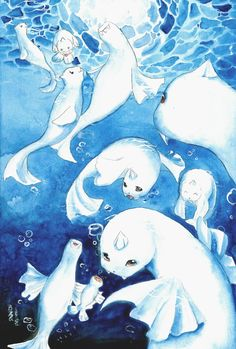 Dewgong - Its streamlined body has little drag in water. The colder the temperature, the friskier it gets.