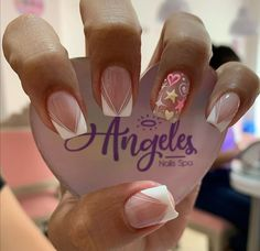 French Acrylic Nails, Simple Acrylic Nails, Best Acrylic Nails, Square Nail Designs, Short Nail Designs, Cute Nail Designs, How To Do Nails, My Nails, Semi Permanente