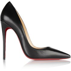 Christian Louboutin So Kate 120 leather pumps (5 060 SEK) ❤ liked on Polyvore featuring shoes, pumps, heels, christian louboutin, chaussures, high heeled footwear, high heel pumps, red sole pumps, black heeled shoes and high heel shoes