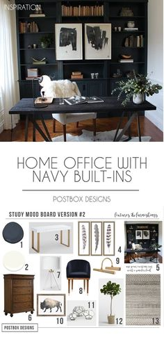 Home office designs Compact Postbox Designs Interior Edesign Home Office Design With Navy Shelves Study Decor Pinterest 323 Best Home Office Ideas Images In 2019 Desk Ideas Office Ideas
