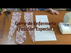 Patrón y Confección de Gorro de Enfermería (Petición Especial) - YouTube Sewing Hacks, Sewing Projects, Sewing Machine Embroidery, Origami, Tapas, Scrub Hats, Camera Phone, Learn To Sew, Diy And Crafts