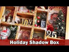 Step by step video on creating a Christmas shadow box or configurations box. http://www.clips-n-cuts.com/2015/12/christmas-configurations-box/ ——— S U P P L ...