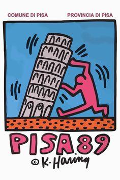 Keith Haring Pisa  Fine Art Paper print
