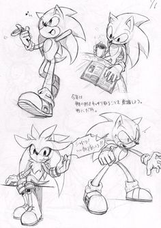 Sonic and Silver sketches