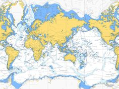 nautical charts | nautical chart of the world on canvas 30x40' by living by the seaside ...