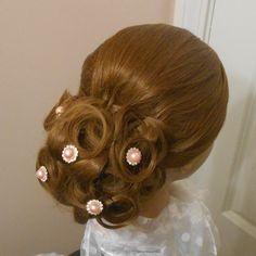 Updo for medium length hair. Wedding hair prom hair