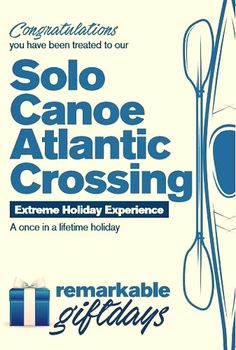 Are you a thrill seeker who loves extreme sports Our joke Solo Atlantic Canoe Crossing Experience claims to offer you the trip of a lifetime to cross the Atlantic on your own. #solocanoe #canoe #canoeing #prankgift #jokegift #prank