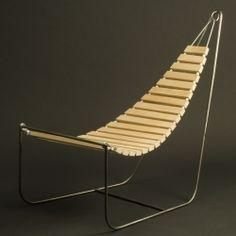 """Wooden hammock """"Flux Chair"""". Simple, sleek design by Eins Design."""