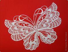 Картина панно рисунок Вырезание Бабочки_Анастасия Махнач Бумага фото 14