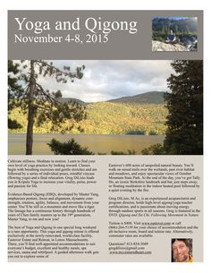 Nov 4 - 8, 2015 Yoga and Qigong Retreat with Greg DiLisio