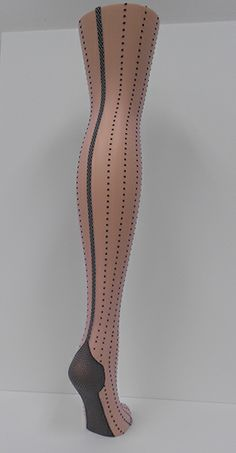 279d38818 French Backseam with a dot in lines around the leg. Wells Hosiery   Apparel