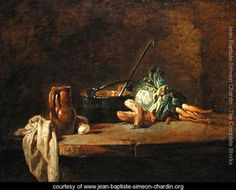 Still life of Vegetables for the Soup, c.1732 - Jean-Baptiste-Simeon Chardin - www.jean-baptiste-simeon-chardin.org