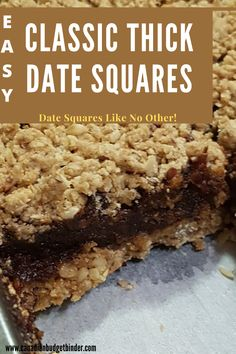 Date Recipes Desserts, No Bake Desserts, Vegan Desserts, Easy Desserts, Baking Recipes, Cookie Recipes, Delicious Desserts, Yummy Food, Finger Desserts