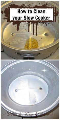 Get the heating element of your crockpot clean with this simple trick! No more nasty slow cooker (Pinned almost 275,000 times!)