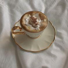 Le café crème by Aesthetic Coffee, Beige Aesthetic, Aesthetic Food, Aesthetic Songs, Summer Aesthetic, Aesthetic Girl, Coffee Cups, Tea Cups, Cappuccino Coffee