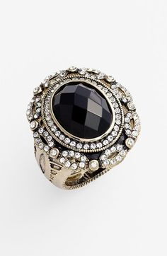 Ariella Collection 'Baroque' Stone Shield Cocktail Ring #jewellery #ring