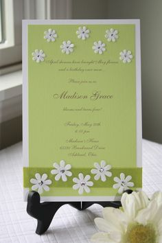 Re-doing this with yellow overlay and orange ribbon for invitations.