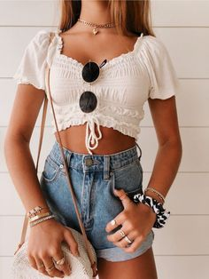 - Moda kıyafetler - – Strandoutfit – Quelle v - Beach Outfit Plus Size, Beach Outfit For Women, Summer Outfits Women 30s, Summer Outfit For Teen Girls, Teen Beach Outfit, Casual Beach Outfit, Teenage Outfits, Teen Fashion Outfits, Mode Outfits