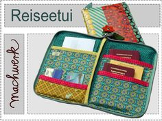 Nähanleitung für ein Reiseetui / diy sewing instrucion: travel case for passport…