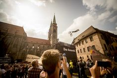 The phone cameras are out in Nuremberg to capture Sam Reynolds in action at Red Bull District Ride. District Ride returned to the freeride calendar for the first time since 2011 bringing slopestyle to a whole new set of mountain bike fans.