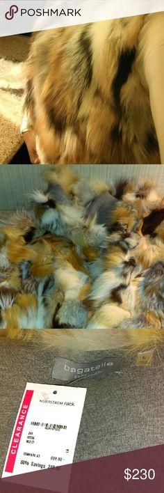Blue Fox Fur Vest Multi Color Fur Vest Jackets & Coats Vests