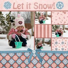 nice scrapbook layout--like the patchwork on the right side. Christmas Scrapbook Layouts, Scrapbook Paper Crafts, Scrapbook Sketches, Scrapbook Page Layouts, Photo Layouts, Baby Scrapbook, Scrapbook Cards, Scrapbook Photos, Scrapbooking Digital