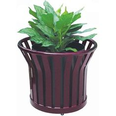 Metal Ribbon Planter | Metal Planters | BigPlanters.com  $531 Patio Planters, Metal Planters, Planter Pots, Made In America, Plants, How To Make, Ribbon, United States, Tape