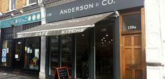 Anderson & Co - The menu is simple and fresh, and everything is cooked in the open kitchen in the back.