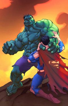 #Hulk #Fan #Art. (The Hulk Vs Superman) By: Mike S Miller. (THE * 5 * STÅR * ÅWARD * OF: * AW YEAH, IT'S MAJOR ÅWESOMENESS!!!™)[THANK Ü 4 PINNING<·><]<©>ÅÅÅ+(OB4E)