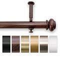 Bold Pole 48 to 90-inch Adjustable Curtain Rod Set | Overstock.com - rod in metallic gold color