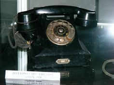 Old telephone from 1920, or the grandmother of our smartphones is to be seen at the Technical Museum in Bucharest.