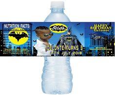 Customized/Personalized BATMAN Printable Water Bottle Labels, Batman Water Labels, Batman, DIY Batman Water Labels, Batman Birthday Stickers