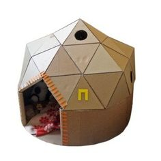 Cardboard Play Dome: 9 Steps (with Pictures) Cardboard Play, Cardboard Sculpture, Cardboard Crafts, Igloo Craft, Cardboard Furniture, Dome House, Dramatic Play, Glue Sticks, Toilet Paper Roll