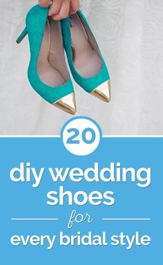 20 DIY Wedding Shoes for Every Bridal Style - thegoodstuff