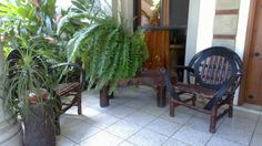 Las plantas son centros de mesa perfectos, la madera menos trabajada, los troncos, la madera de café que se corta y junco son materiales lindos usados por artesanos de mis pueblos, ¿para qué ir a una súper transnacional para amoblar?