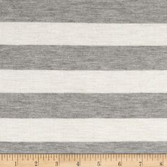 74f7ca31f51 Modal Rayon Jersey Knit Stripe Natural Grey from @fabricdotcom This stretch  rayon jersey knit fabric