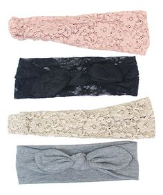 Charlotte Rose Couture Tan & Dusty Lace Knot Headband Set by Charlotte Rose Couture #zulily #zulilyfinds