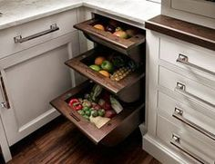 Fruit and Vegetable Drawers - traditional - cabinet and drawer organizers - new york - Trish Namm, Allied ASID - Kent Kitchen Works