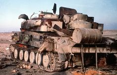 "Iraqi antiaircraft SPG ZSU-23-4 ""Shilka"" destroyed during Desert Storm in 1991"
