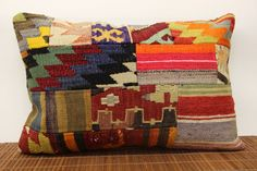 Home design Lumbar Patchwork kilim pillow cover by kilimwarehouse, $59.00