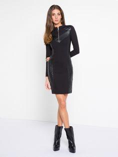MET Women's AFRONE long-sleeved slim fit dress -  Met #met #metjeans #fallwinter17 #fall #winter #collection #woman #apparel #love #style #fashion #street #style #falltrend