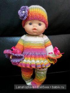 Вязаные комплектики для малышек Горди от Паола Рейна / Одежда и обувь для кукол - своими руками и не только / Бэйбики. Куклы фото. Одежда для кукол