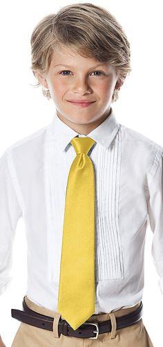 Daffodil boys neck tie: Weddington Way