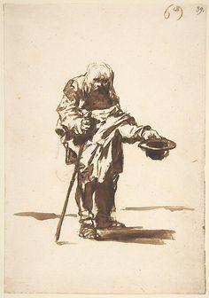 Beggar with a Staff in His Right Hand,   Francisco de Goya, Metropolitan Museum of Art