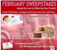 Win a One Year Membership to Netflix or Spa & Salon Gift Card