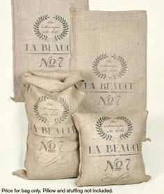 French Grain Sack Reproductions ~ from Online Fabric Store ~ they have some really neat stuff