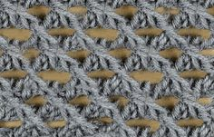 My Tunisian Crochet: Lace Stitches  - TUTORIALS