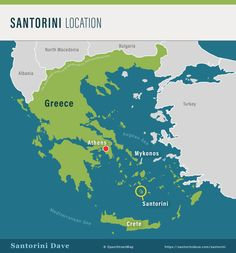 Santorini Maps - Updated for 2020 Santorini Map, Santorini Beaches, Mykonos, Santa Maria Beach, Paros Greece, Waterfront Restaurant, Crete, Athens, Night Life